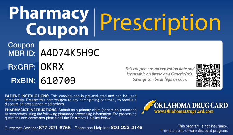 Oklahoma Drug Card - Free Prescription Drug Coupon Card